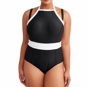 Terra & sky black white one piece swimsuit size 3X